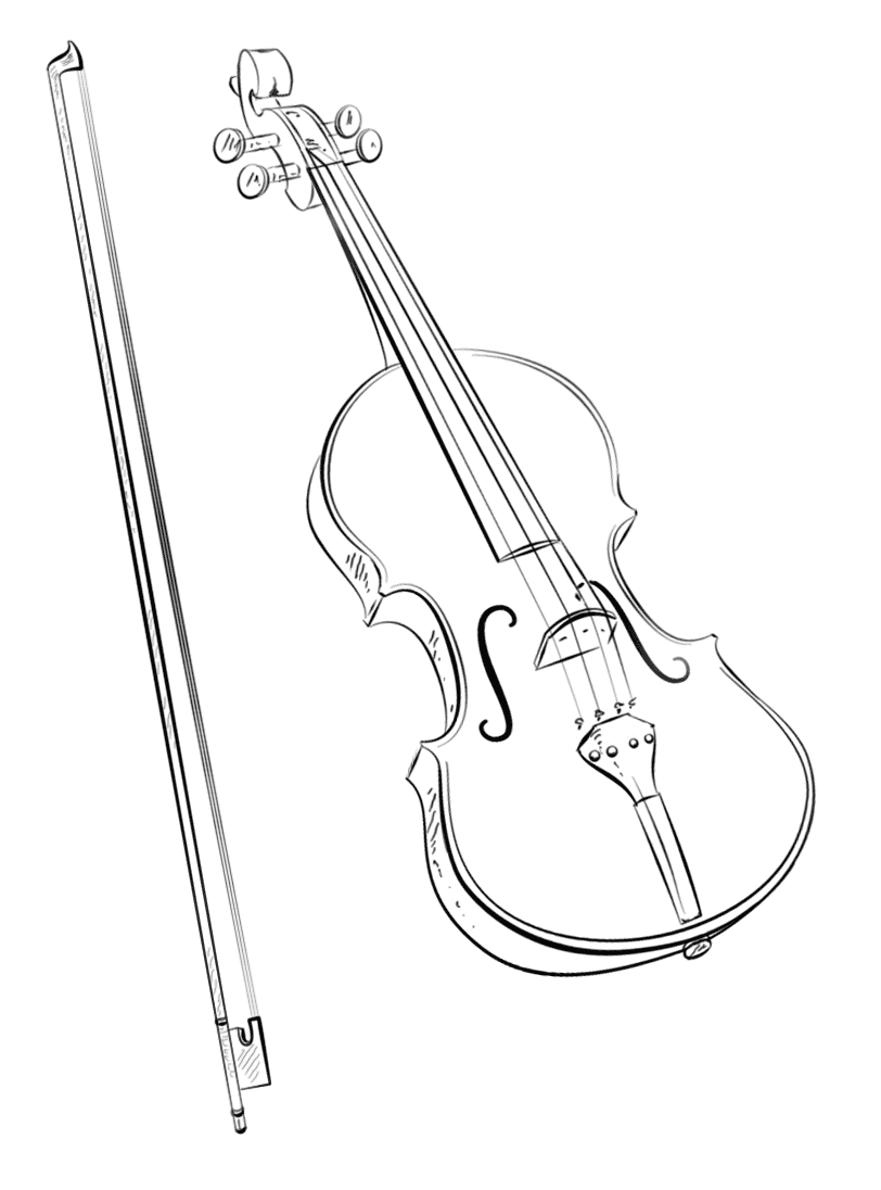 violin-and-bow-coloring-page